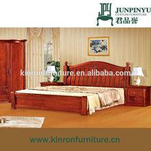 K-HB861 Solid wood Modern bedroom furniture model wood bed for sale