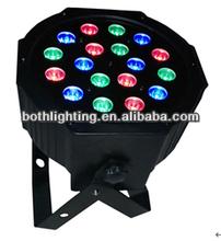 small LED thin Par Cans Light tri rgb color light 18x1w
