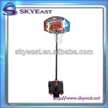 Outdoor Portable Basketball System Adjustable Hoop Backboard Court Net Pole
