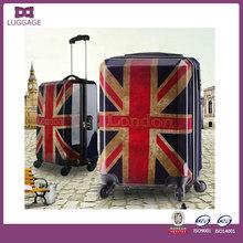 promotional British flag primark luggage portable travel luggage scale polo trolley luggage