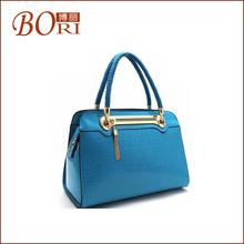 2013 special designed female elegant ocean blue fashion pu leather handbag