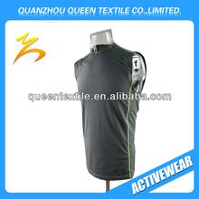 Fashion Lycra/Spandex Flat Seaming Men's vest fitness wear