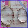 Clear glass gemstone,oval stone,flat bottom glass gem
