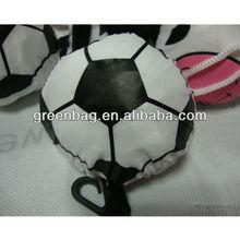 Polyester bag folding to ball