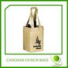 Stable metallic 4 bottle nonwoven bag