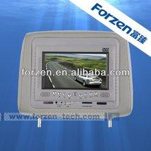 7 inch car pillow headrest monitor dvd player sony lens
