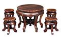 clássico de luxo em madeira sala de jantar conjunto tel0528
