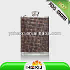 USA 6oz fabric wrapped stainless steel hip flask
