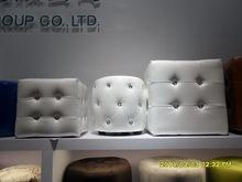 PU leather ottoman with diamond home furniture Hangzhou
