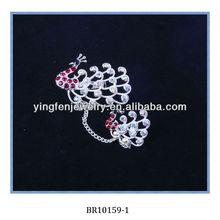 Elegance Crystal Peacock Bridal Jewelry Set
