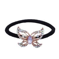 2015 Fashion New Blue Flower Elastic Women Human Crystal Knit Hair Band Fall Wig Hair Tie SP-TS-77963
