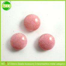 2014 cheap pink flat oval round crackle bulk acrylic beads
