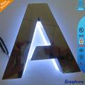 iluminado alfabeto metal loja frente led assinar cartas