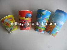 custom design plastic 3D lenticular cup