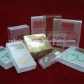 Venda quente limpar caixas de embalagens de presente de acetato com o logotipo personalizado