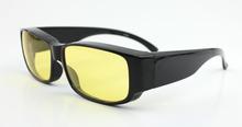 Hd lunettes lentilles jaunes nuit, fitover lunettes lunettes de soleil de la conduite de nuit
