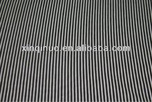 100% Cotton 3mm white/black stripe printed canvas fabric