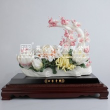 Yong feng xiang factory direct superb handmade decorative white ceramic flower /Ceramic furnishing articles(58010)