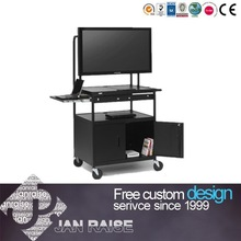 Portable multifunctional small glass office computer table OK-L8087