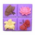 la flor y la mariposa de jabón de silicona molde de silicona molde de la flor de jabón h0186 nicole