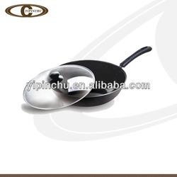 Aluminum cookware gas saute pan/wok