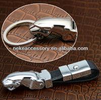 new arrival high quality jaguar car key chain keychain key ring