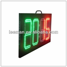 Leeman hign brightness electronic digital two sided led soccer substitution board