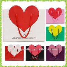 romantic design for chocolate paper bag / loving heart shape gift bag