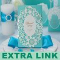 علي بابا الصين الموردون اليدوية بطاقة دعوة الزفاف الفخمة
