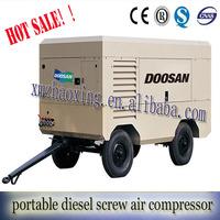 hot sale !2014 high quality ingersoll rand Doosan portable diesel screw air compressor