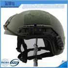 NIJ IIIA military ballistic helmet with rail