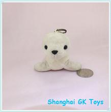 10cm Cute White Plush Seal Keychain