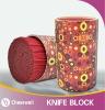 Decorated coating Knife Holder/round knife block
