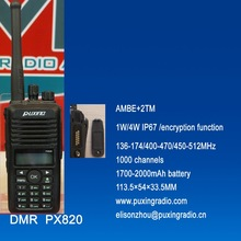 PUXING professional DMR radio PX-820 VHF AMBE+2TM IP67 encryption