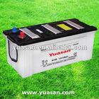 12V150AH Super Long Life Lead Acid Dry Charged Car Battery JIS Standard N150