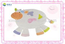Funny plush bull animal shaped cushion for kids