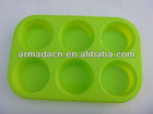 Circle Cylinder Round silicone soap molds cake moulds- 6 Cavity