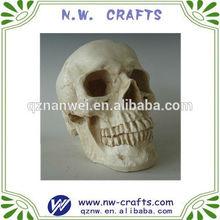 Halloween resin skull for decoration