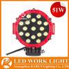 6'' 51w Led Work Light Round Luz 4x4 Off Road Driving Light Spot Light Black&Red