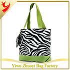 New Green Zebra Canvas Shopping Bag Fashion Style Tote Bag