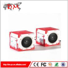 novelty mini promotional paper cardboard speaker 3.5mm jack