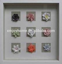 Wholesale shadow box,decorative porcelain wall art