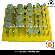 50PCS One Set Electroplated Diamond Mounted Points