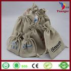 Wholesale Screen Printed Logo Decorative Natural Jute Drawstring Burlap Bags