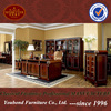 0010 Solid wood luxury classic spain style study room home furniture
