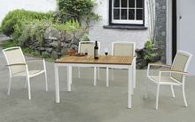 cheap textline chairs teak wood outdoor dining table set