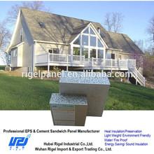 Sandwich panel Polystyrene concrete walls prefab houses poland