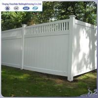 pvc plastic garden fence panel
