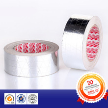 Self adhesive With fiberglass lines reinforced Aluminium foil tape