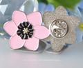 custom linda flor em forma de botão emblema